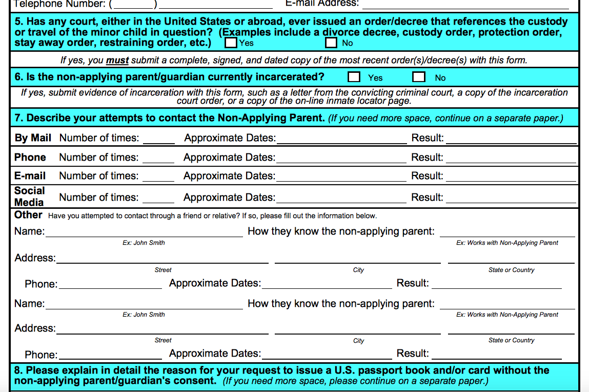 Applying For A U S Passport For A Baby With 1 Parent Not That